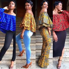 kitenge designs Good morning ladies Your favorite belle tops are now available for purchase. See link in bio African Print Fashion, African Fashion Dresses, African Attire, African Wear, African Dress, Fashion Prints, Fashion Outfits, African Blouses, African Tops