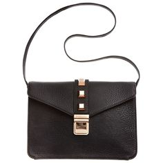 Bcbgeneration Amber bag NWT black bcbgeneration the amber bag. With rose gold studs and buckle.  Cross body bag. Measurements: Bottom Width: 10 1 ⁄ 2 in. Depth: 2 in. Height: 7 3 ⁄ 4 in. Strap Length: 35 1 ⁄ 2 in. Strap Drop: 16 in. Weight: 1 lb 1 oz. BCBGeneration Bags Crossbody Bags