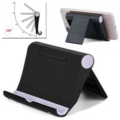 Foldable Cell Phone Desk Stand Holder Mount Cradle For iPhone 11 Pro X 8 Samsung - Ideas of Phone Stand Iphone Holder, Iphone Stand, Iphone Phone, Cell Phone Holder, Iphone S6 Plus, Ipad Stand, Car Holder, Phone Mount, Selfie Stick