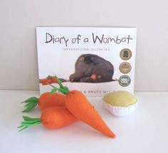 Wombat Book Felt Food Early Learning Set Book and Activity Set Child's Activity Book Australian Native Animal Toy Play Food Set, Felt Play Food, Pretend Food, Kids Activity Books, Activity Days, Activities For Kids, Wombat, Children With Autism, Reading Time