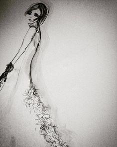 #fashionstudent #fashionillustration #ink #illustration #homework