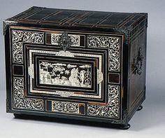 Cabinet Date: 1600–25 Culture: Italian (Lombardy) Medium: Pine and walnut veneered with rosewood, ebony, macassar ebony, and ivory; brass mounts Dimensions: 17-1/2 x 21 x 14 in. (44.5 x 53.3 x 35.6 cm)