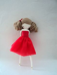rag doll Marilyn  plush toy cloth art doll by lassandaliasdeana, $41.00