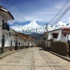 Jose Olaya St. in Huaraz - Peru. An old street in the peruvian highlands.
