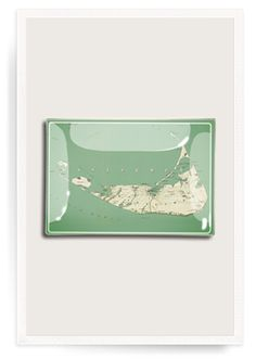 Nantucket Sound Decoupage Glass Tray | Bensgarden.com