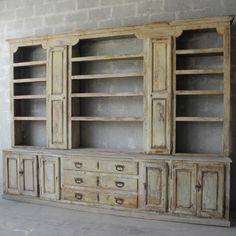 18th c. Bibliotheque from a Grand Property in the Southern French Village of Cucuron Chateau Domingue