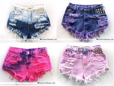 I love dip-dye shorts, they are the next big thing this summer!