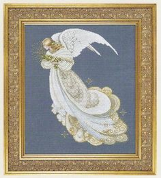 lavender and lace cross stitch   Angel of Dreams - Lavender & Lace - Cross Stitch Pattern