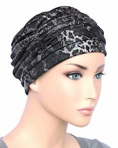 Glamour Cap Chemo Turban Bronze with Black Velour Burnout Chemo Hair Loss, Old Hollywood Glamour, Head Wraps, Hats For Women, Snake Skin, Classic Style, Cap, Beautiful, Beauty