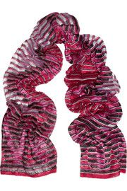 Missoni Zigzag crochet-knit scarf