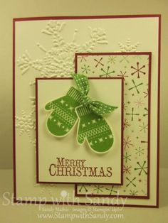 Snowflakes on Mittens by stampwithsandy - Cards and Paper Crafts at Splitcoaststampers
