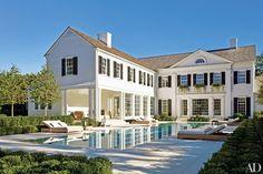 Serene pool, windows, windows, windows, shrubbery, pool surround. Project by Sawyer | Berson