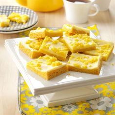 Lemony Cream Cheese Bars Recipe -Anytime I can take a recipe that has been handed down two generations and lighten it up while keeping the delicious flavor memories intact, I'm a happy girl. —Patti Lavell, Islamorada, Florida