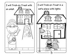 safety tips for trick or treating easy reader - Halloween Safety Worksheets