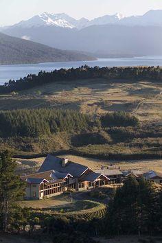 Beautiful! - Fiordland National Park, New Zealand (Fiordland Lodge in forefront).