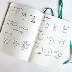 How to draw Christmas doodles step by step