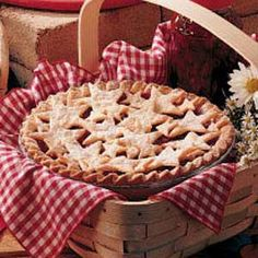 Sour Cherry Pie -- love the simple cut-out star crust.