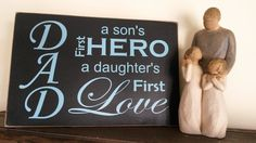 Fathers Day Gift Rustic Home Decor Distressed Vinyl Sign by BreakingFreeDesigns on Etsy