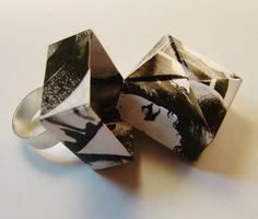Чувственный оригами поле кольцевого регулируемой