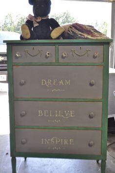 cute painted dresser
