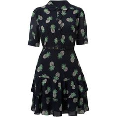 Whistles Pineapple print dress (3.780 RUB) found on Polyvore - Amy Pond's dress (A Town Called Mercy)