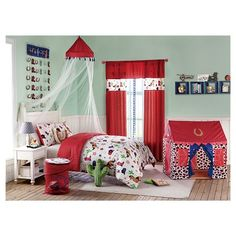 Vcny Home Yeehaw Canopy (Red) (Polyester, Plaid) Comforter Sets, Vcny, Bed, Bedroom Decor, Kids Bedding, Home Decor, Cowboy Bedroom, Bedding Stores, Comforters