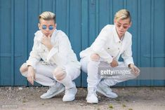 Pop singers Marcus & Martinus pose for a portrait session before honouring Crown Princess Victoria on the ocassion of her birthday at Victoriagarden on July 2017 in Borgholm, Sweden. Get premium, high resolution news photos at Getty Images You Are My Life, Crown Princess Victoria, Second Of Summer, Pop Singers, Portrait, Image Collection, Photo Sessions, Documentaries, White Jeans