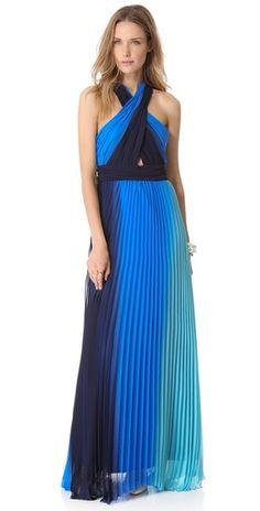 alice + olivia Jaelyn Cross Top Flare Dress | SHOPBOP