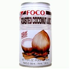 Foco Roasted Coconut Juice Drink 11.8 Oz - 350 ml Cans (case of 24) -- Read more  at the image link.