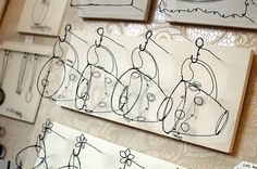 wire art hanging cups