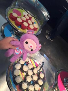 Some of Lollie's beary favorite things... LA Sweetz Cupcakes!