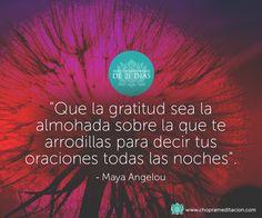 ¿Por qué te sientes agradecido hoy? ¡Nos encantará saberlo! #choprameditacion #deepakchopra #meditacion