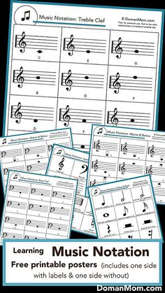 I recently made these posters for Hunter (age 8) and Damien (age 2). I already had a very similar printable for learning music notation with this matching game (available here), but these posters w…