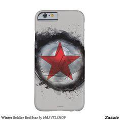 Estrella roja del soldado del invierno funda para iPhone 6 barely there