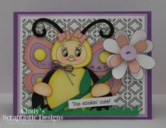 Cindys Scraptastic Designs: KBD/PKS Birthday Bash Blog Hop - Day 3 Spring Projects, 3d Projects, Peachy Keen Stamps, Little Bit, Die Cut Cards, Birthday Bash, Clear Stamps, Birthdays, Easter