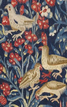 A 'MILLE-FLEURS' TAPESTRY FRAGMENT, PROBABLY SOUTHERN NETHERLANDS, MID 16TH CENTURY, AND LATER
