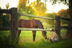 Little girls love horses.