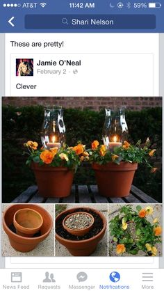 Flower pot laterns