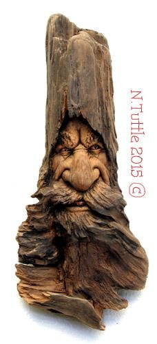 """""""Isaac the Stern""""     9 inches tall and 3½ inches across his fuzzy beard.   Signed and dated:   N. Tuttle 5/5/15"""
