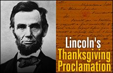 Did you know that President Lincoln officially proclaimed Thanksgiving in 1863? The first national Thanksgiving was celebrated on Nov 26, 1863.