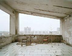 Nadav Kander >, project: Chernobyl, Half Life Hotel Polissya, Rooftop Cafe, Pripyat
