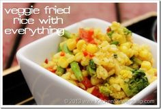 Simple Veggie Fried Rice (with any veg you have on hand) - waste less food and spend less time in the kitchen :: via Kitchen Stewardship