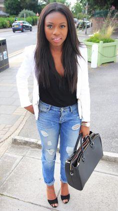 Blazer -Sheinside/Jeans - ASOS /Bag - Zara /Shoes -TopshopMomentsofstyle.com