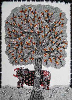 Madhubani Painting by Sapna Karan