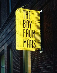 Philippe parreno, the boy from mars, 2005 text signage design, sign design, Storefront Signage, Signage Display, Retail Signage, Wayfinding Signage, Signage Design, Office Signage, Shop Signage, Banner Design, Environmental Graphic Design