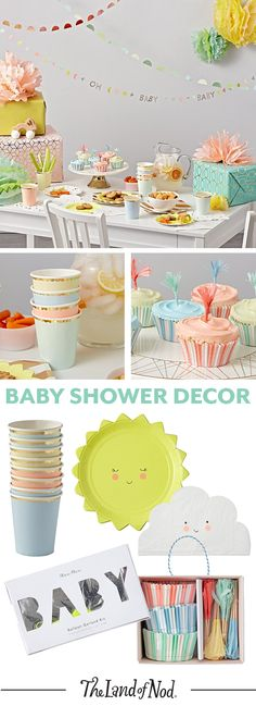 Spice up your baby shower or baby's first birthday party with tons of drool-worthy party supplies and décor.