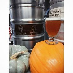 Coalition Brewing's Gourder Crosser Pumpkin Ale with roasted hatch chilies and other interesting spices... come try this beer and seven others at the #liquidpumpkinpatch event happening Saturday, November 8 at Coalition Brewing #PDX #BeyondGiving