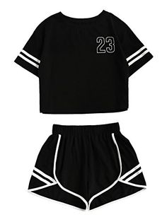 2018 Tracksuit Women Two Piece Set Summer T Shirt Crop Tops and Shorts Set Fashion BTS Kpop Stripe Lady Track Suit Set 2 Pieces - Lilly is Love Teen Fashion Outfits, Teenage Outfits, Sporty Outfits, Mode Outfits, Outfits For Teens, Trendy Outfits, Girl Outfits, Emo Fashion, Fashion Clothes