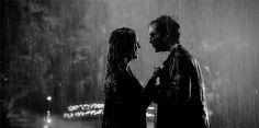 delena rain kiss gifs | Tumblr