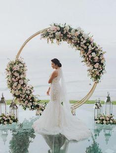 Bali Wedding, Floral Arch, Wedding Decorations, Wedding Dresses, Lace, Fashion, Bride Dresses, Moda, Bridal Gowns